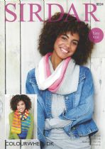 Sirdar Colourwheel DK - 8034 Twisted Snood & Scarf Knitting Pattern